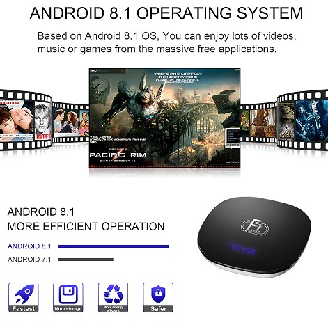 Box TV Android F1 fonctionnalités 2