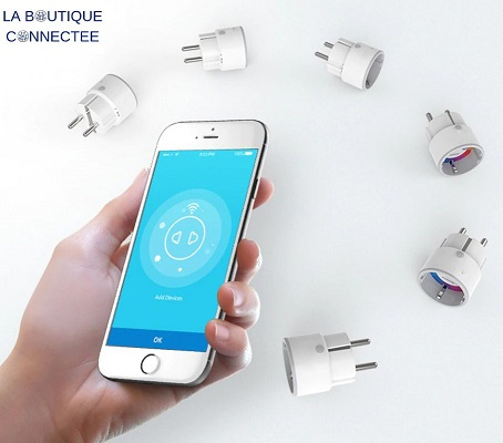 Prise intelligente connectée utilisation smartphone