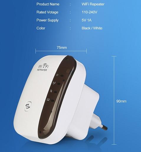 Répéteur Wifi amplificateur longue portée caracteristiques
