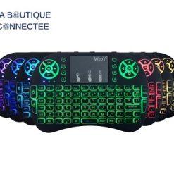 mini clavier sans fil rétroéclairé