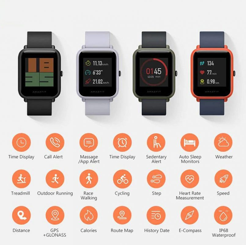 Montre Connectée Xiaomi Huami Amazfit Bip (version internationale) fonctionnalités_resultat