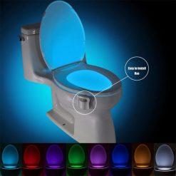 Lampe de toilette LED 8 couleurs veilleuse