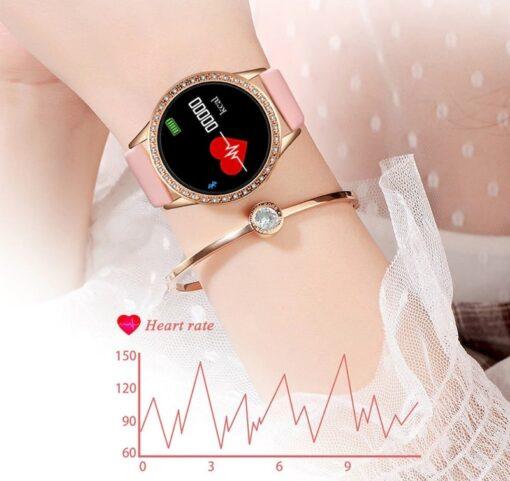 Montre Connectée Femme Luxe LE7 frequence cardiaque