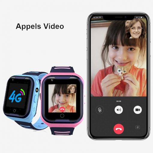Montre connectée enfant GPS 4G KW10 apple video