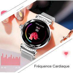 Montre Connectée Ronde pour Femme HT18 cardiaque